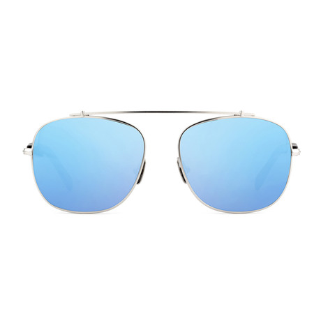 Unisex Malcolm No Middle 10 Polarized Sunglasses // Silver + Blue