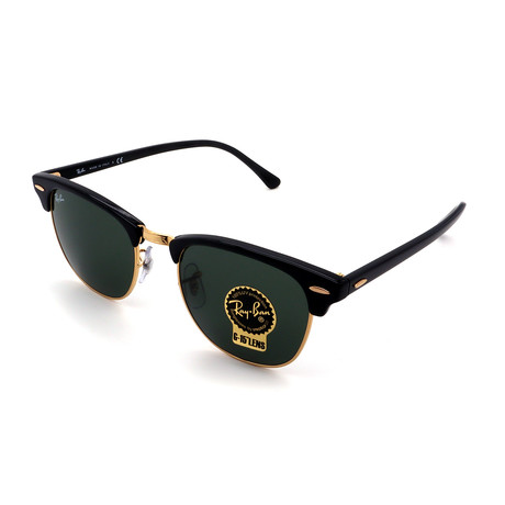 Unisex RB3016-W0365 Clubmaster Sunglasses // Black (Size 49-21-140)