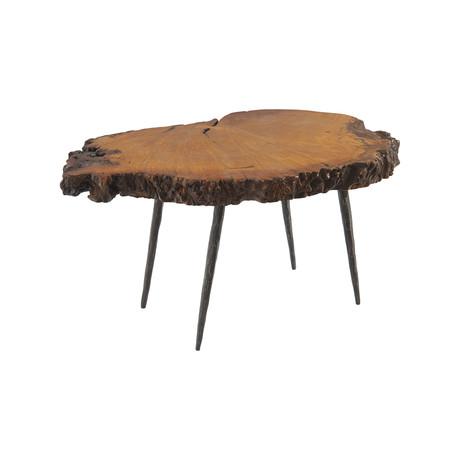 Burled Wood Side Table v.2