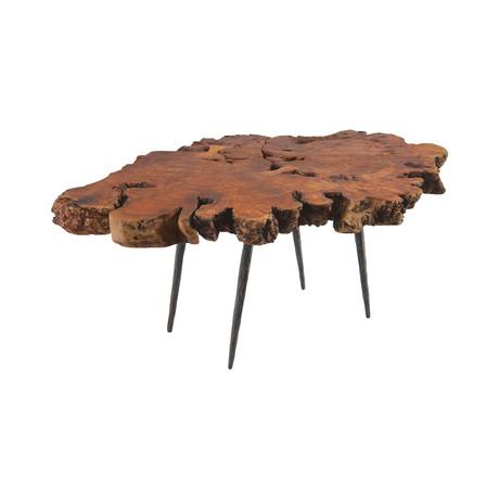 Burled Wood Side Table v.3