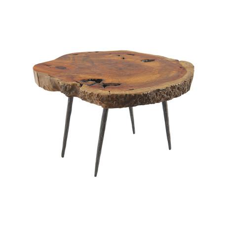 Burled Wood Side Table v.1