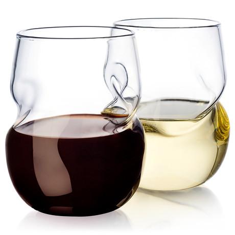 Wave Wine Tumblers // Set of 2