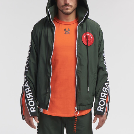 Goki Woven Track Jacket // Deep Forest (S)