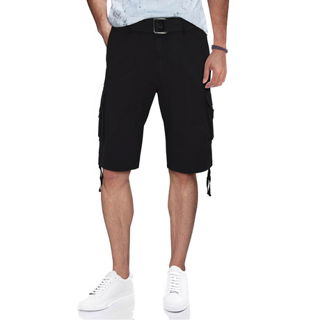 BeLighted Cargo Shorts + Twill Piping // Black (30)