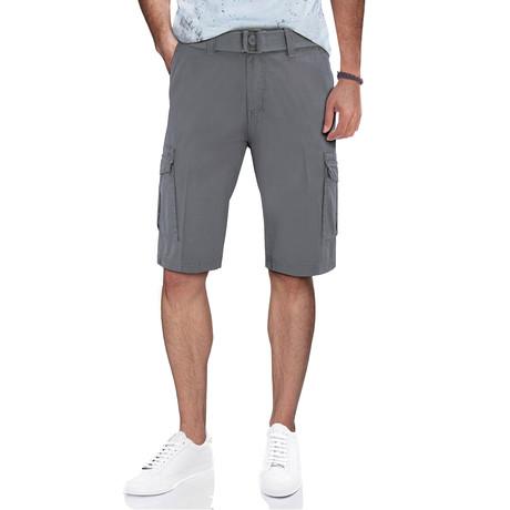 BeLighted Snap Closure Pockets Cargo Shorts // Slate Gray (30)