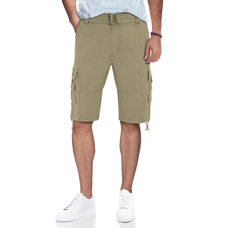 BeLighted Cargo Shorts + Twill Piping // Stone (30)