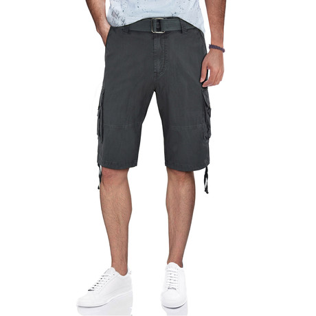 BeLighted Cargo Shorts + Twill Piping // Charcoal (30)