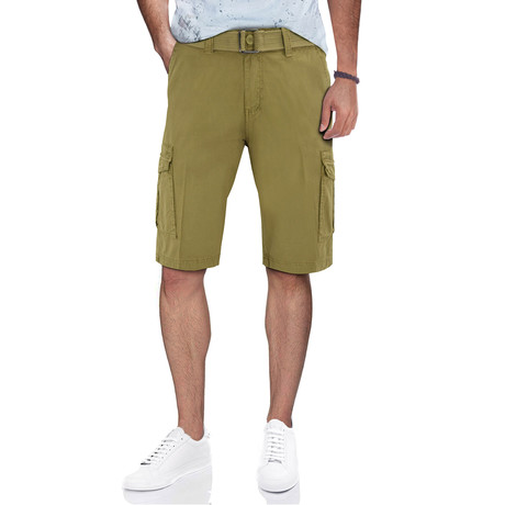 BeLighted Snap Closure Pockets Cargo Shorts // New Khaki (30)