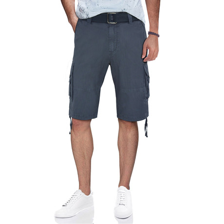 BeLighted Cargo Shorts + Twill Piping // Steel (30)
