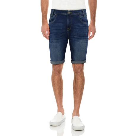 Roll Cuff Jean Short // Medium Blue (30)