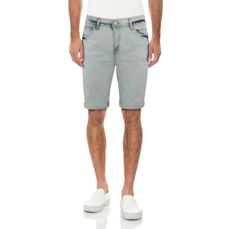 Roll Cuff Denim Shorts // Light Blue (30)