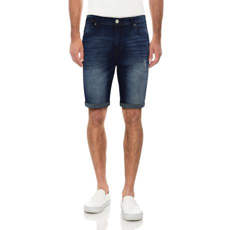 Roll Cuff Denim Shorts // Indigo (30)