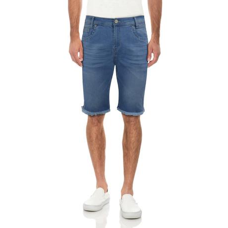 Frayed Denim Shorts // Sky Blue (30)