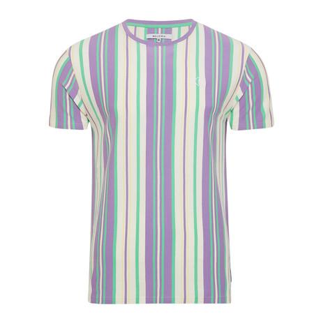 Reiner Vertical Stripe Shirt // Lilac (S)