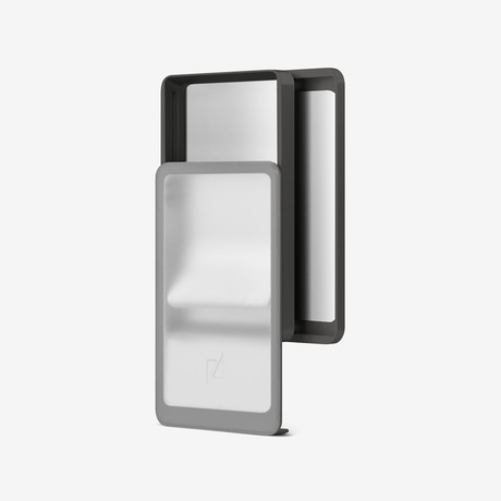 Zenlet 2+ Wallet // RFID Blocking Tray + Horizontal Compartment // Transparent + Space Gray