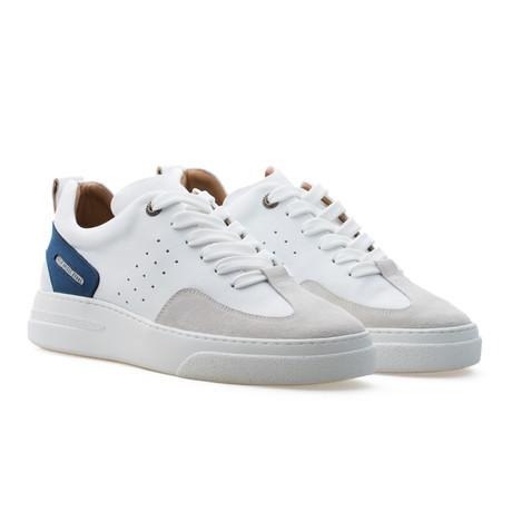 Woke Low Top Sneaker // Deep Ocean Blue + White + Light Cream (Euro: 39)