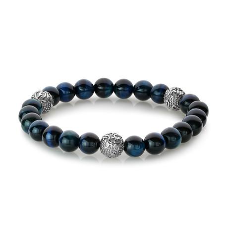 """Stretch Bracelet // Blue Tiger Eye // 8.2""""L"""