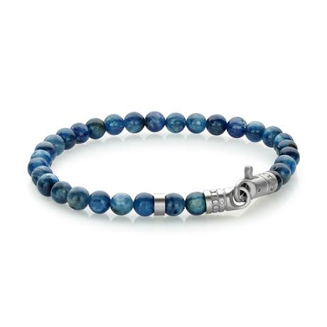 """Beaded Bracelet // Blue // 8.2""""L"""