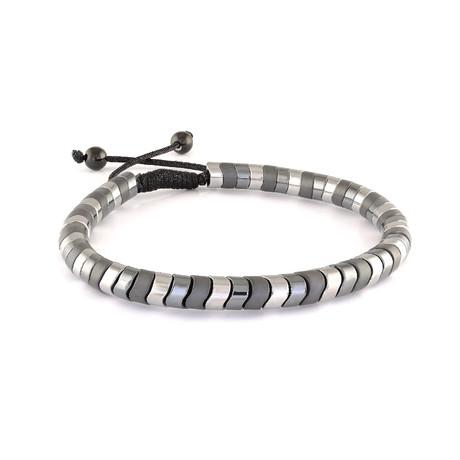 """Beaded Bracelet // Gunmetal + Hematite // 8.2""""L"""