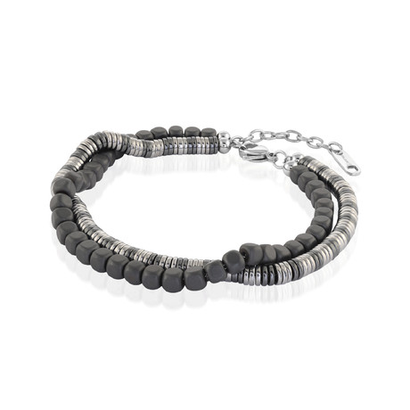 Beaded Bracelet // Gunmetal
