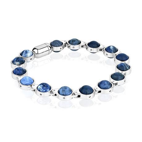 """Magnetic Clasp Bracelet // Blue Tiger Eye (7.7""""L)"""