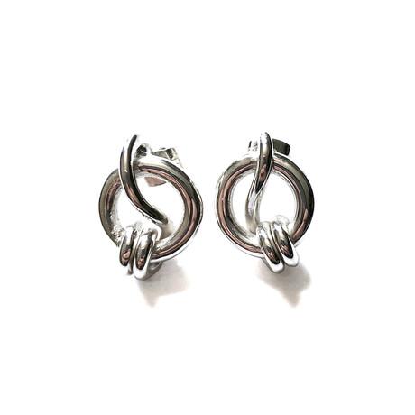 Double Knot Earrings // Sterling Silver
