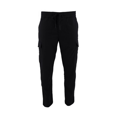Woven Cargo Draw Pant // Black (S)