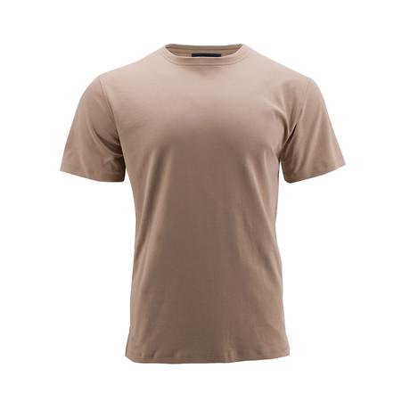Short-Sleeve Basic Crew Shirt // Khaki (S)