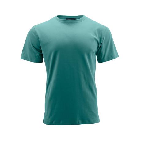 Basic Crew Short-Sleeve Shirt // Aqua (S)