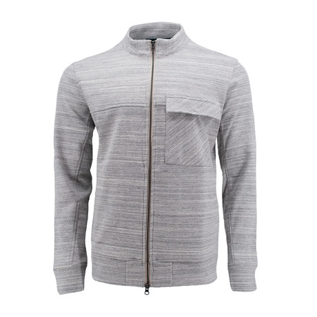 Textured Zipper Jacket // Gray (S)