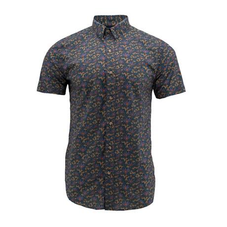 Daisy Short-Sleeve Shirt // Dark Blue (S)