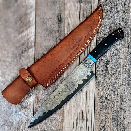 Sanmai Chef Knife // Turquoise + Micarta