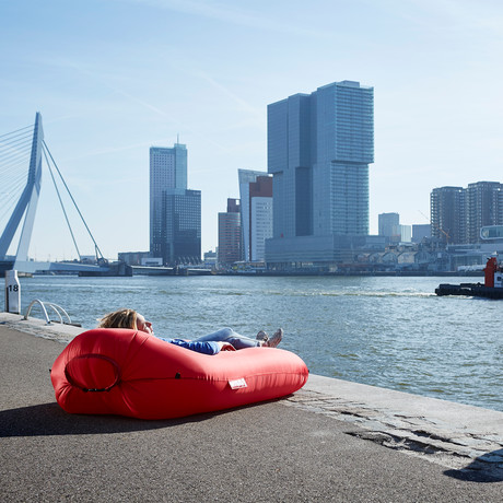 Lamzac Inflatable Lounger // Special Edition Fatboy (RED)