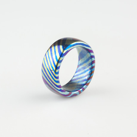 James Coogler Timascus Ring // Style 5 // Size 9.5