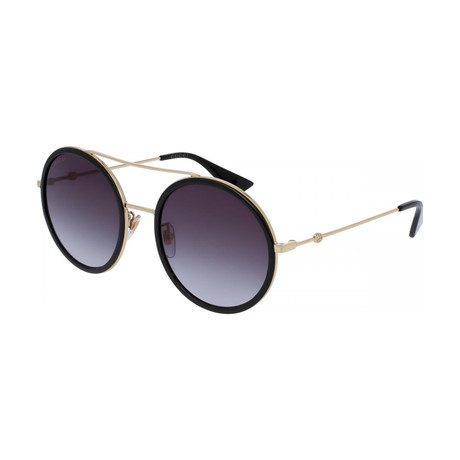 Women's GG0061S-001 Sunglasses // Gold + Black + Gray Gradient
