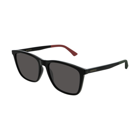 Men's GG0404S-002 Sunglasses // Black + Gray