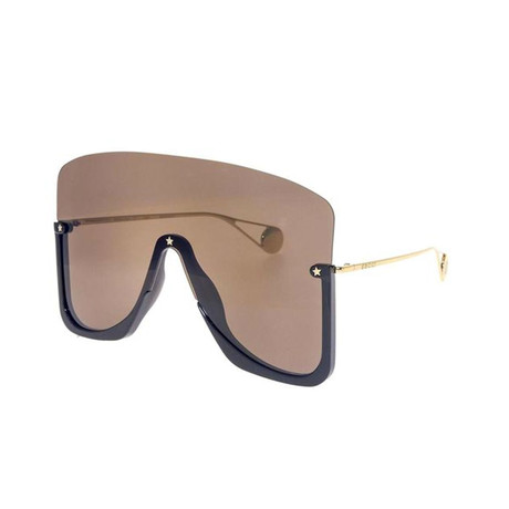 Men's GG0540S-001 Sunglasses // Black + Brown