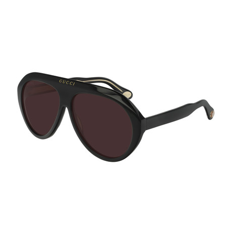 Men's GG0479S-001 Sunglasses // Black + Brown