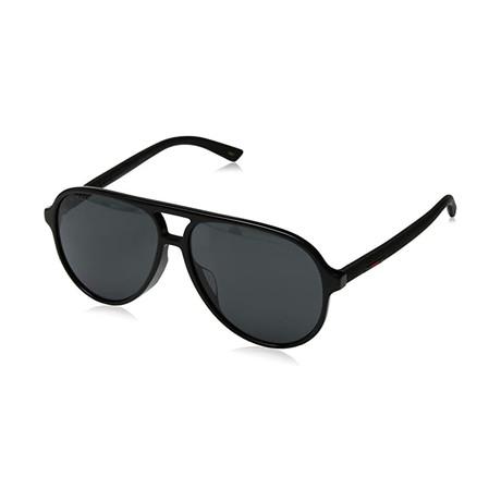 Men's GG0423SA-001 Sunglasses // Black + Gray