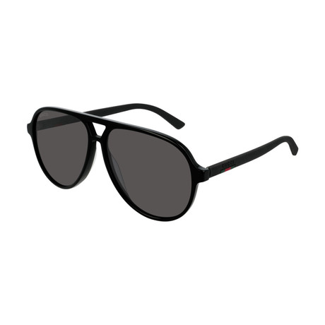 Men's GG0423S-007 Sunglasses // Black + Gray