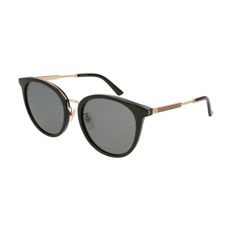 Women's GG0204SK-001 Sunglasses // Gold + Black + Gray Gradient