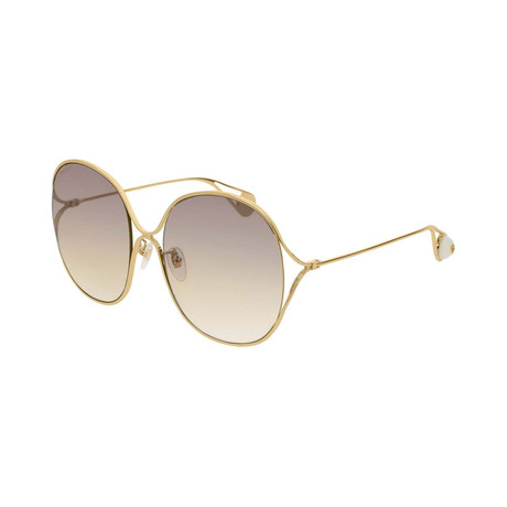 Women's GG0362S-003 Sunglasses // Gold + Crystal