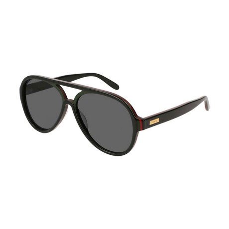 Men's GG0270S-002 Sunglasses // Black + Gray