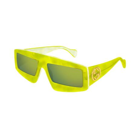 Women's GG0358S-003 Sunglasses // Yellow + Green