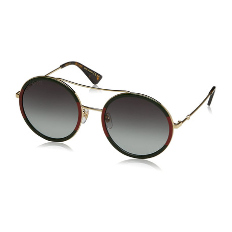 Women's GG0061S-003 Sunglasses // Gold + Black + Gray Gradient