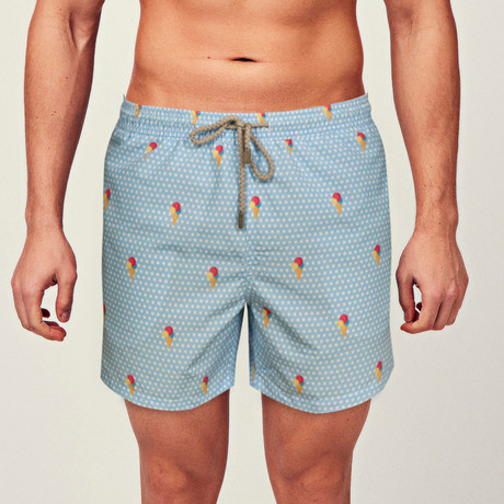 Ice Cream Swim Short // Blue (S)