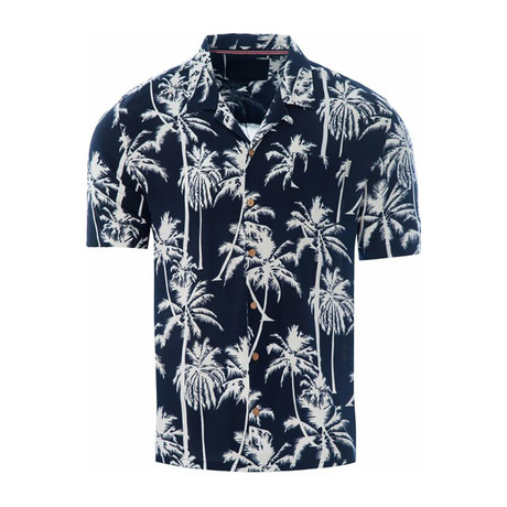 Palm Trees Shirt // Navy (S)