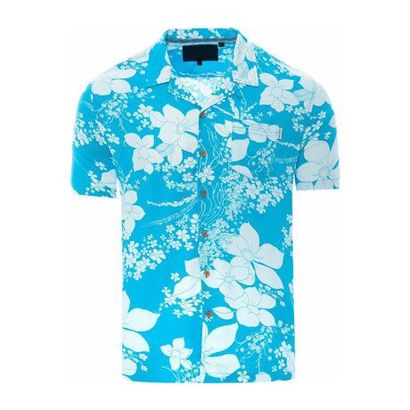 Floral Shirt // Turquoise (S)