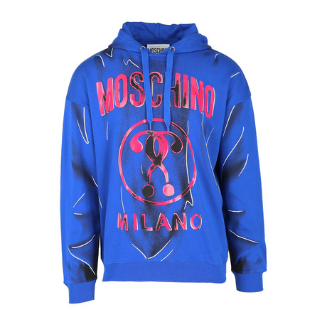 Men's Logo Hooded Sweatshirt // Bluette + Fuchsia (Euro: 44)