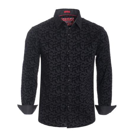 Abstract L/S Shirt // Black (S)